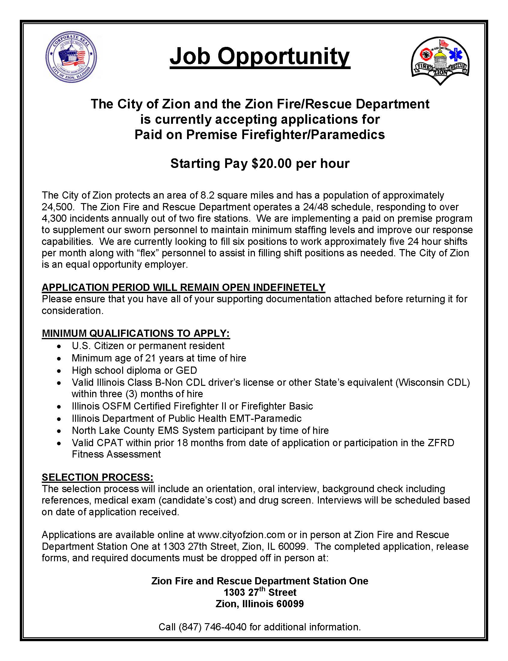 Fire & Rescue Department - City of Zion